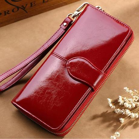 red women's wallet