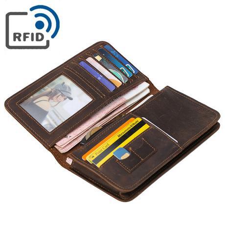 RFID men's leather wallet