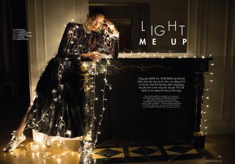 Light Me Up with Anisia Khurmatulina by Benjamin Kanarek for ELLE