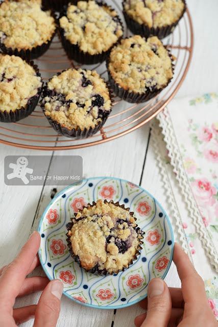 best blueberry buttermilk muffins ever streusel Carole Walter