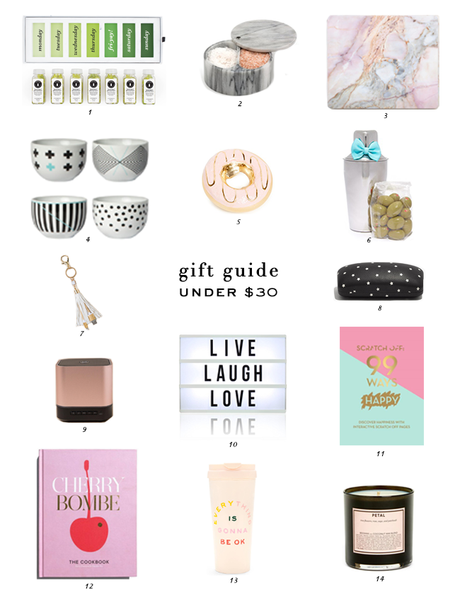 Under $30 Gift Guide, Gift Guide, Gift Ideas, Holiday Gifting