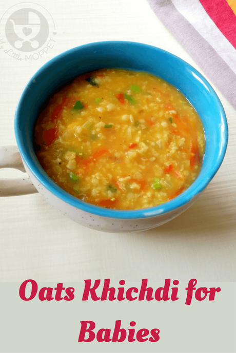 Oatmeal is a common dish prepared for babies across the world. Add some Indian flavor to regular oats to make a yummy Oats Khichdi for babies!