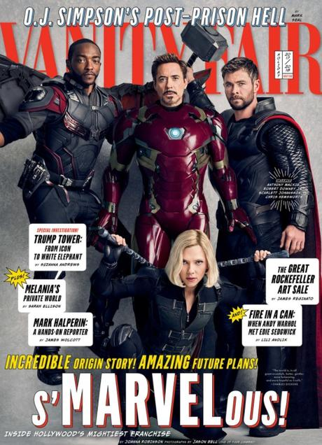 Vanity Fair has a huge editorial with Marvel franchise stars in the January issue