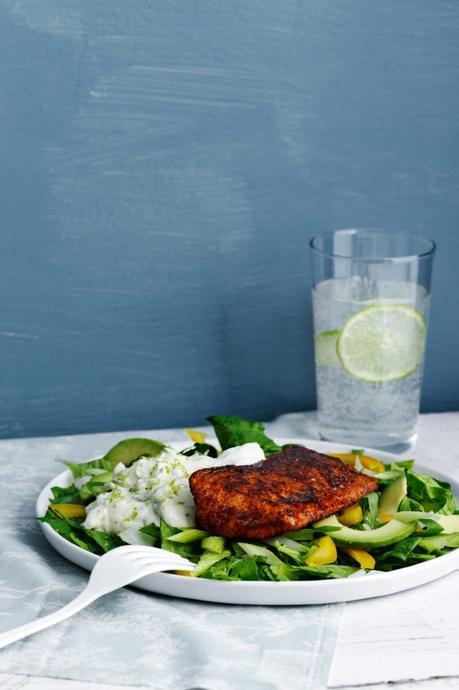 Keto salmon Tandoori with cucumber sauce