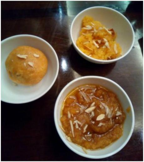 Moong Dal halwa, Mawa kachori and chasni ka chawal in Goldfinch hotel food festival