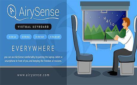 AirySense virtual keyboard and mouse