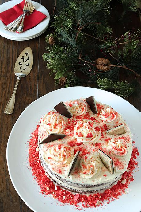 Chocolate Cake with Peppermint Buttercream Frosting