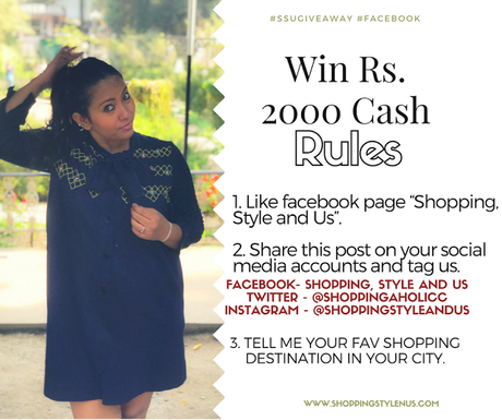 This giveaway/contest is open for all Indians who love to shop. Non-shoppers please stay away!! Love and Light