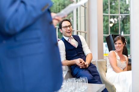 York & Albany Wedding Photography groom laughing