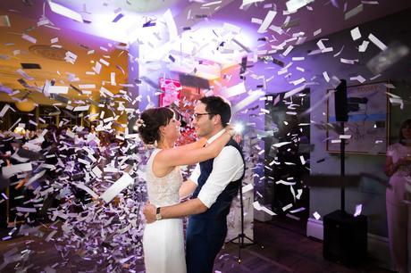 York & Albany Wedding Photography confetti canon