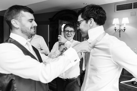 York & Albany Wedding Photography groom preparation