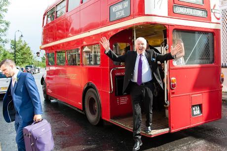 York & Albany Wedding Photography big red bus