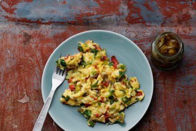 Keto Mexican scrambled eggs