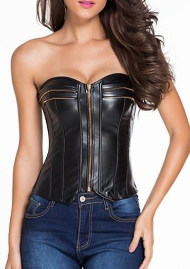sexy leather corset tops