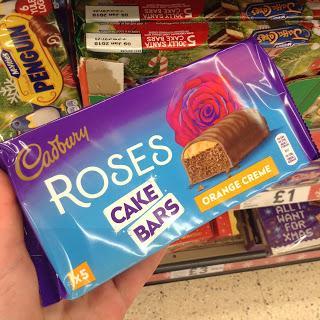 cadbury roses cake bars orange cream