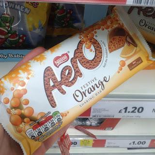 Nestle Aero Festive Orange Sharing Bar