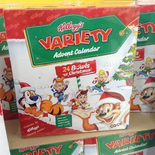 kelloggs cereal advent calendar