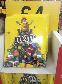 m&ms and friends advent calendar