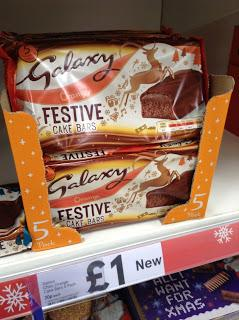 galaxy chocolate orange festive cake bars