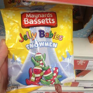 Maynards Bassetts Jelly Babies Snowmen