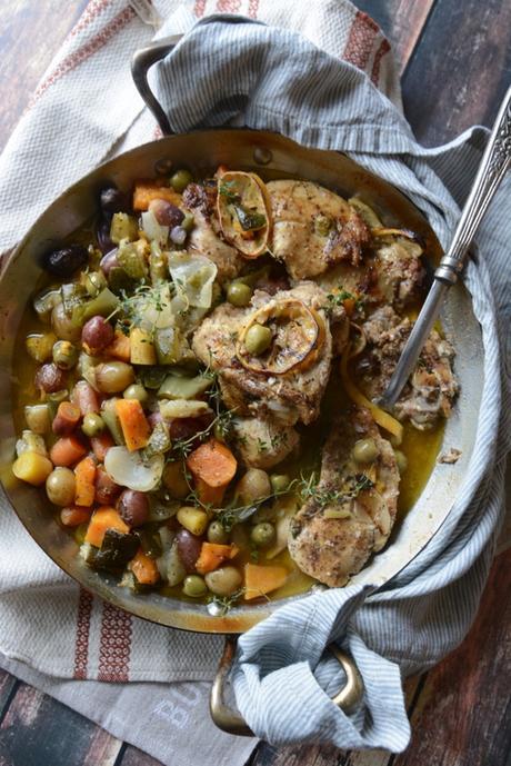 harissa chicken and vegetables