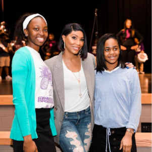 Tamar Braxton Surprise Students At  A Birmingham High School