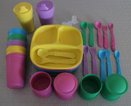 Kids tableware review: LOVE Little Earth Nest's Replay recycled kids dining sets