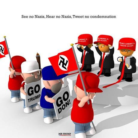 See no Nazis, Hear no Nazis, Tweet no condemnation