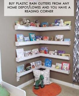 Image: FRUGAL TIP: Rain Gutters Into Reading Nook