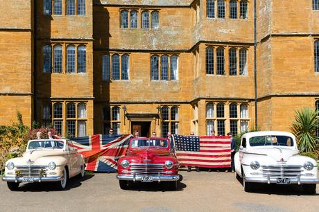 York Wedding Photographers cars with american and british flags