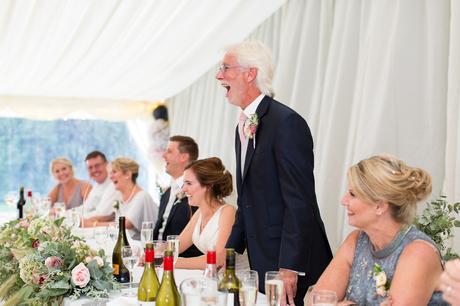 York Wedding photographers dad giving speech