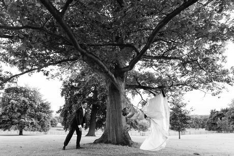 York Wedding photographers bride on swing