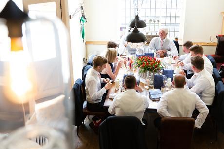 York Wedding Photographers Groom prep breakfast