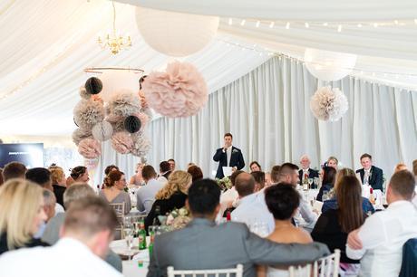 York Wedding photographers groom giving speech