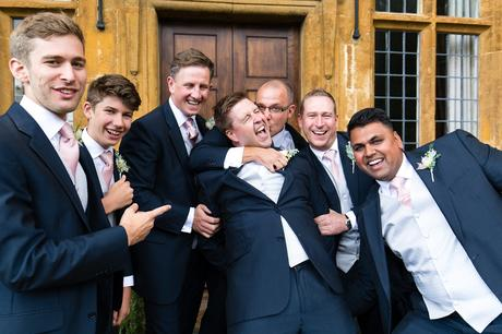 York Wedding photographers groomsmen group