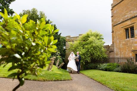 York Wedding Photographers bride walks to chapel
