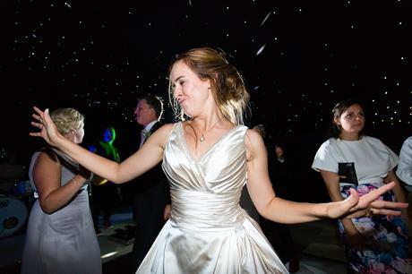 York Wedding photographers bride dacing