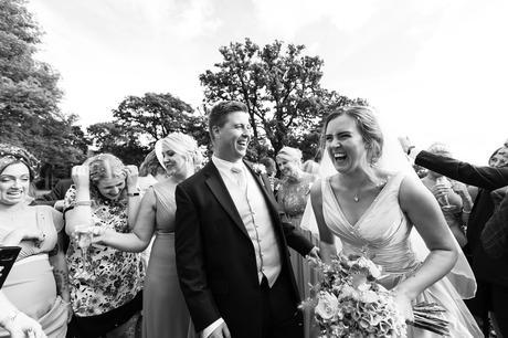 York Wedding photographers bride laughing