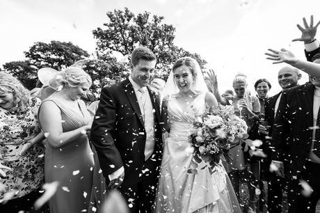 York Wedding photographers confetti shot
