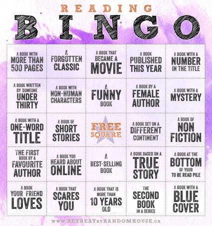 Reading Bingo 2017 edition
