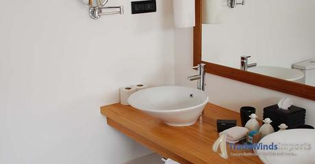 photo of a modern bathroom decoration detail