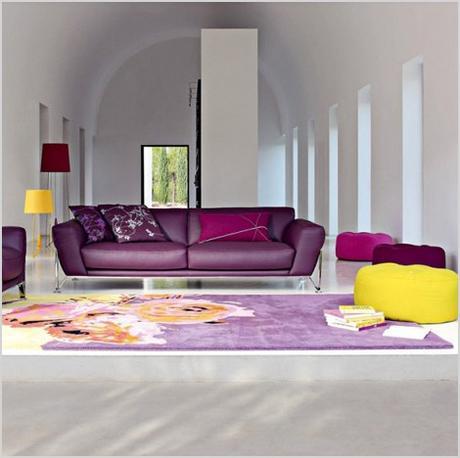 purple interior designs living room