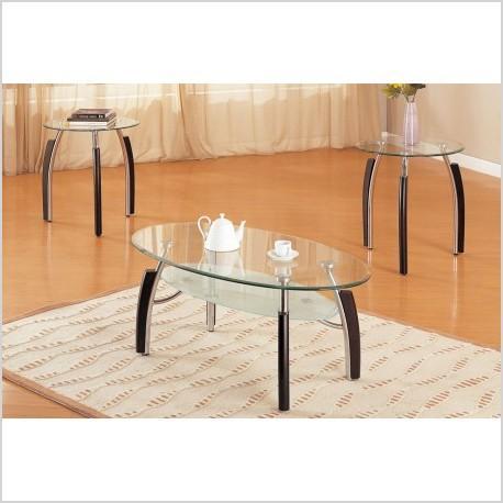 3 piece coffee table and end tables set f3077