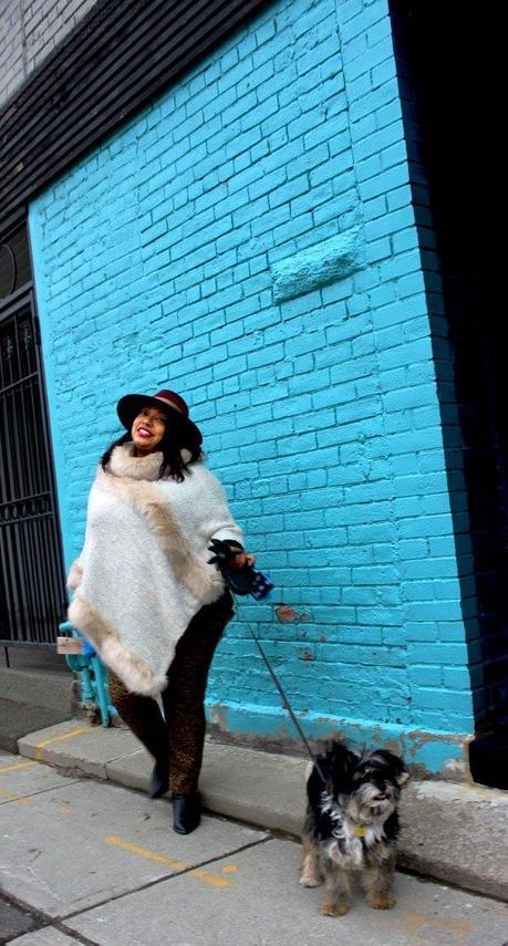 Winter Outerwear: Faux Fur Poncho