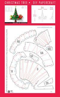 DIY Christmas Tree Papercraft PDF Template - Paperblog