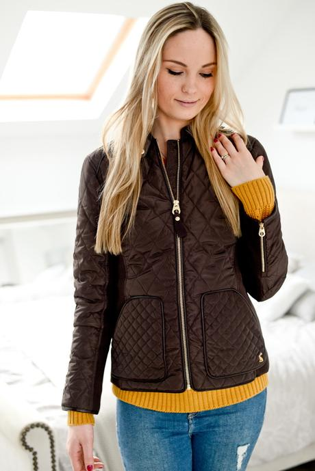 joules jacket, joules brown quilted jacket