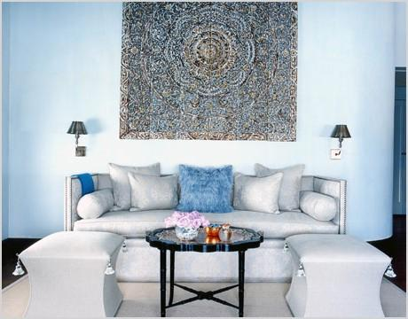 10 blue and white living room ideas
