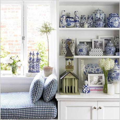 decorating with blues and white