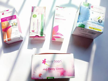 Feminine Hygiene Haul From Everteen and Mini Reviews