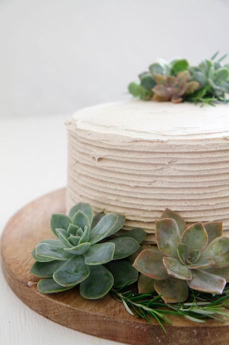 Vanilla Butter Cake with Chai Spiced Frosting